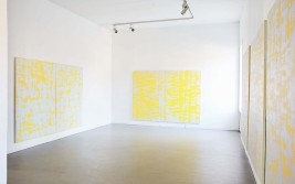 Interior with yellow paintings