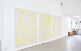 Serie of 3 yellow paintings. Oil/Canvas, 206 X 154 cm.