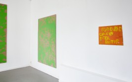 Interior with green paintings